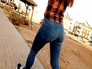 Jeans Asses 5 Bitch Candid Butts