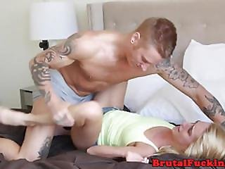 Roughfucked 18yo Blasted With Jizz