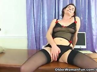 British Milf Clara Is Your Sexy Secretary Today