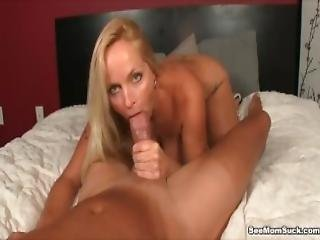 Horny Milf Gets Excited To See Big Dicked Guy Sleeping Naked
