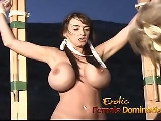 Lusty Slut With Massive Tits Has Her Wet Pussy Fingered