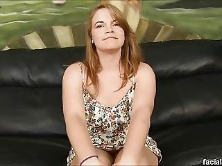 Petite Redhead Ariel Stonem Pukes On Cocks And Dp D