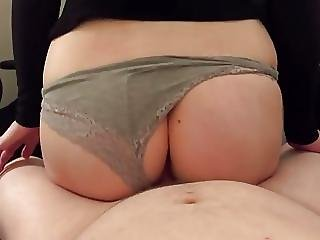 Busty Petite Teen Gets Creampied While Riding Her Boyfriend