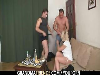 Two Guys Drill Her Old Hole