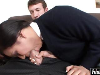 Asian Teen Gets Fucked On The Couch