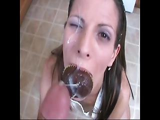Cum Covered Cupcake  Big Facial