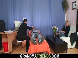 Busty Hairy Granny Double Penetration