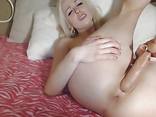 Wild Blonde Babe Extreme Pussy Fucking
