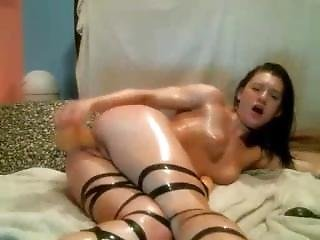 Slut Gets Naughty While Parents Are In Other Room