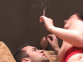 Brunette Smoking Part 3