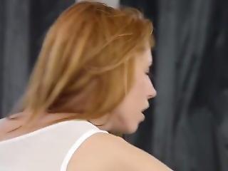 Redhead Gets Dp And Facials
