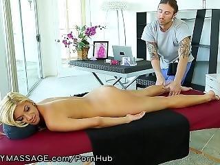Fantasymassage Busty Babe Orders Rubdown In Office