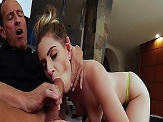 Perv Dad Got His Matured Cock Suck By Niki Snow