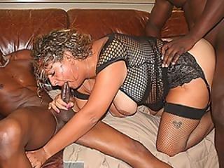 Big Tit Bbw Milf Stuffed By Two Big Black Cocks At Once