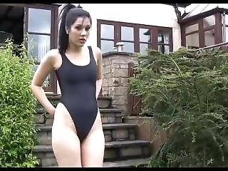Swimsuit Masturbation + Thigh High