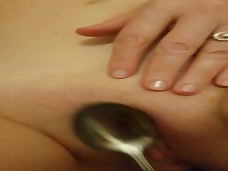 Israeli Couple Playing Pussy By Spoon
