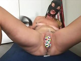 Submissive Painslut Suffers Extreme Tack Torture On Pussy, Clit, Ass & Tits