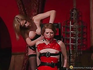 The Girl In The Red Mouth Pushes Gag