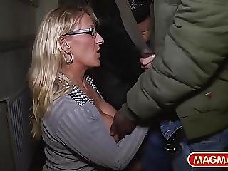 Public Interracial Milf Sex