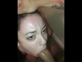 Teen Ariah Gets Face Fucked And Gets Face Covered In Cum