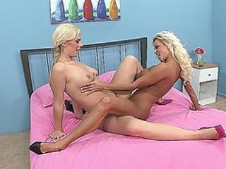 Hot Blonde Milf And Her Younger Girlfriend Get Naughty