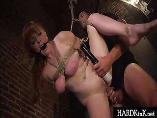 Bigtit Redhead Bound And Fucked