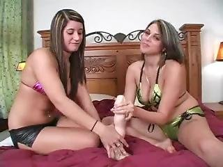 Two Girls Dominate You With A Big Dildo