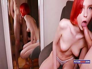 Redhead Suck Big Cock Lover And Doggystyle After Work