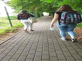 2 Teens With Great Jeans Asses Voyeur, Part 1