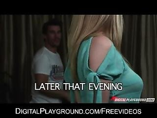 Natural blonde Allie James cheats on her man for some hard dick