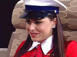 Brunette, Fingering, Lesbian, Nipples, Pornstar, Stewardess