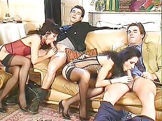 Anal, Penetração Dupla, Fisting, Luvas, Sexo Em Grupo, Milf, Penetração, Cetim, Sexo, Meias