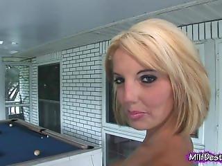 Blonde Kyla Takes Her Panties Off
