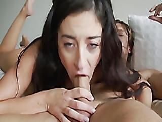 Cameron Canela Deepthroat Blowjob Riding Big Cock