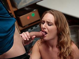 Hipster Teen Daisy Stone Punished By The Officer