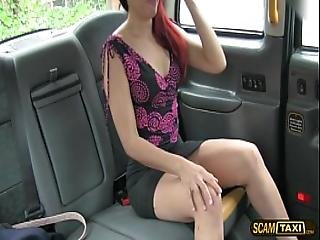 Redhead Saharas Pussy Gets Fucked Hard By Driver Big Prick
