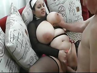 Horny Bbw Wife Takes Anal Creampie With Her Neighbor