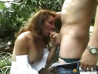A Guy Fucks His Bitch In The Greenhouse