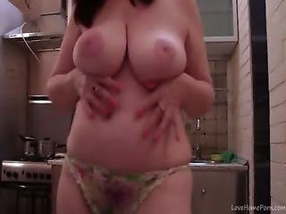 Fat Bbw Milf Has Some Fun In The Kitchen