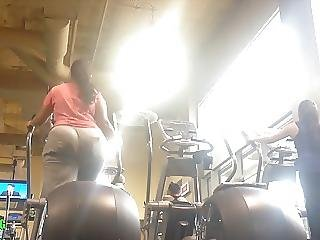 Bbw Candid Indian Booty With Slim Waist On Eliptical