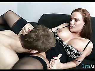 Milf Works His Cock At The Office