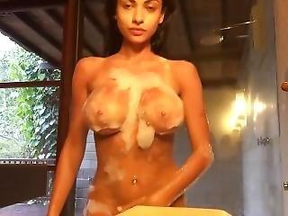 Gorgeouz Hot Body Babe Dtz Dildo In Shower ~ ????û??£???