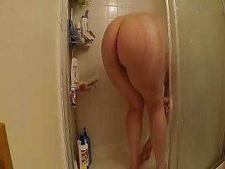 Spying On My Big Butt Roommate During Shower