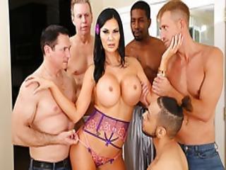 anal, arsch, blasen, vollbusig, sperma, gangbang, interrassisch, milf