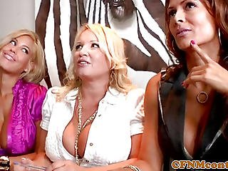 Femdom Pussyfucked In Group With Voyeurs