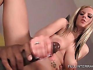 Trashy Slut Fits Massive Black Dick Up Her Slit