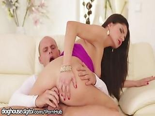 Doghouse Russian Babe Takes Cum On Her Butthole