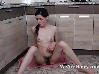 Maria Rosa Masturbates On Her Kitchen Counter