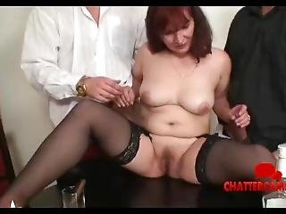 Mature Redhead Granny Threesome Hardcore Strip Poker