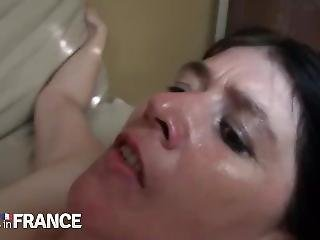 Nude In France - Angelina, 45 Yo Mature Double Vaginal Black Cocks